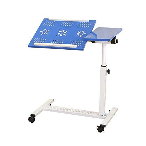 Axdwfd Table d'appoint, table d'ordinateur portable amovible, rotation réglable à 360 ° en hauteur, très approprié au salon Chambre 65 * 35 * 65-95CM (bleu)