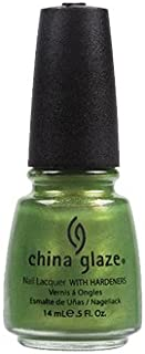 China Glaze Nail Lacquer With Hardeners - 14 Ml, Cha Cha Cha Island Escape - Green