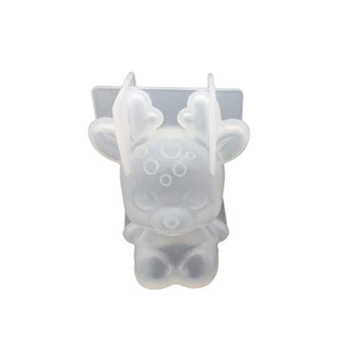 Supvox 3D Schmuck Gießform Rentier Anhänger Silikonform für Weihnachten Schmuck Harz Schimmel Ohrringe Ring Armband Halskette Basteln DIY Kristall Schmuckherstellung