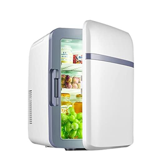 huasa Mini Nevera, 2 en 1 Mini Refrigerador 12V/220V para Enfriar y Calentar, Portátil Mini Nevera CosmeticosNevera Pequeña y Silenciosa para Skincare, Alimentos, Bebidas, Cuidado de la Piel,22L