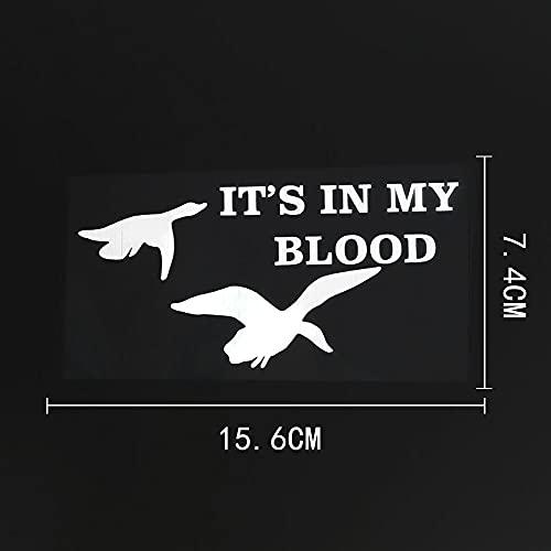 WZJH 15. 6CMX7.4CM Ganso Animal Está en mi Etiqueta engomada de Vinilo de Sangre Negro/Plata (Color Name : Silver)