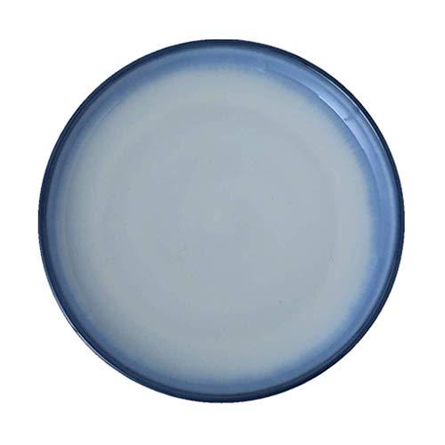 jiaju Bandeja de Fruta, de Estilo Europeo Gradiente vidriada Placa de cerámica, Creativo al Estilo Occidental Pasta Plato, Queso Vegetal de múltiples Funciones Occidental vajilla, 11.2 * 1.2in