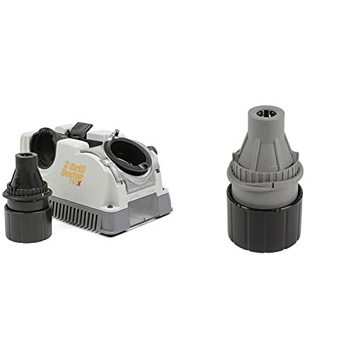 Drill Doctor 750X Drill Bit Sharpener & Left-Handed Chuck, 3/32-1/2 in, DA02105PF, Grey/Black