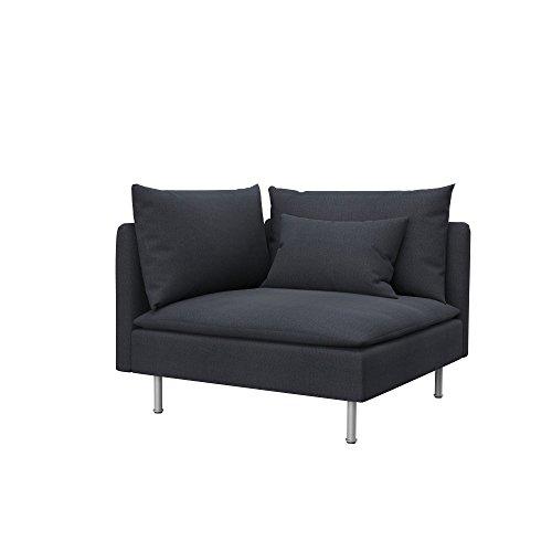 Soferia - IKEA SÖDERHAMN Funda para módulo de Esquina, Classic Steel