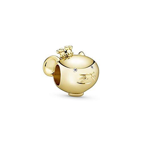 Pandora -Bead Charms Silber_vergoldet 768587C01, Gold, One Size
