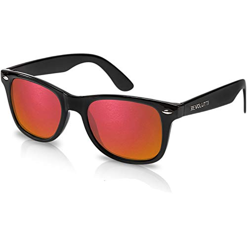 Polarized Sunglasses for Men and Women | Imperial Red UV400 Protection Factor Lenses with Maintenance Set by REVOLUTTI