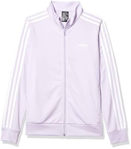 adidas Womens Essentials Tricot Track Top Purple TintWhite Large
