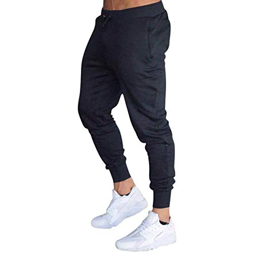 1111 Sports Trousers for Men Breathable Thin Gym Running Trouser Lightweight Jogger Pants Drawstring Waist Sweatpants with Pockets Casual Fashion Jogging Bottoms Tracksuit Black