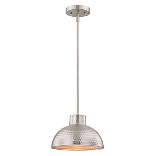 Westinghouse Lighting Lámpara de Techo Colgante de 1 Luz con Barra Segmentada E27, Níquel Satinado