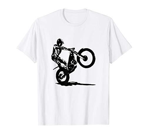 Trial Motocicleta Piloto de Trial Camiseta