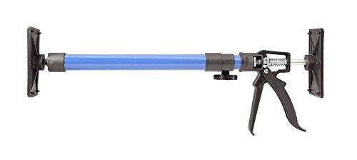 kwb Stabile Montage-Stütze bzw. Teleskop-Stütze, kurz, 50 bis 115 cm ausziehbar, bis 30 kg belastbar, Druckplatte bis 90° neigbar