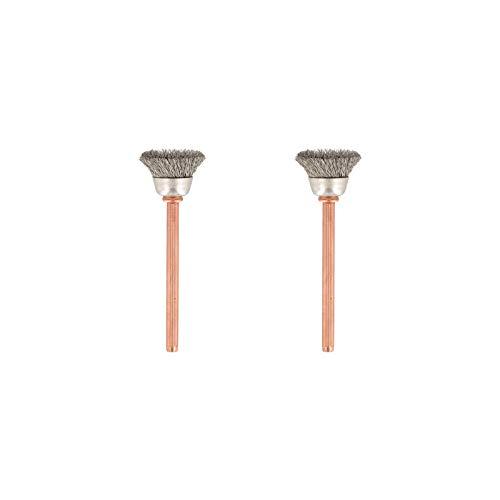 Dremel 531 Edelstahlbürste Zubehörsatz (für Multifunktionswerkzeug mit 2 Edelstahlbürsten Durchmesser 13mm zum Reinigen und Polieren von korrosionsfestem Material wie Silber und Edelstahl oder Gold)