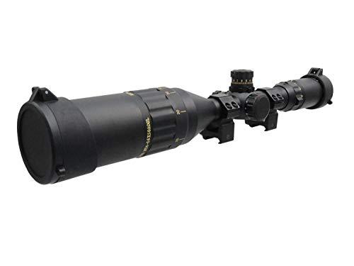 BEGADI Sniper Zielfernrohr 'CROW50' 4-16 x 50 mit Bel. Absehen (rot/grün/blau), Montage & Sonnenblende