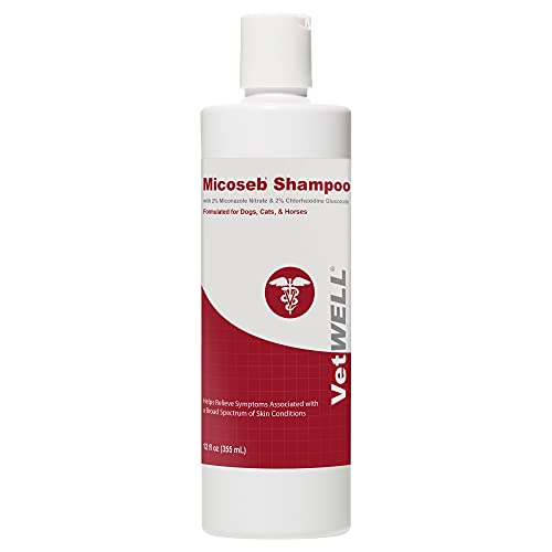 VetWELL Micoseb Medicated Shampoo for Dogs & Cats...