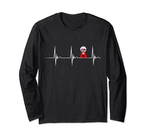 バブルガムマシン 心拍ガムボール EKG パルセリン 長袖Tシャツ