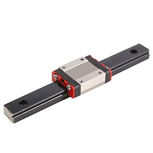 Guida lineare in acciaio inox MGN12 lunghezza 400 mm con blocco di trasporto MGN12H per Kossel Mini, BLV mgn cubo stampante 3D e macchina CNC (400mm)