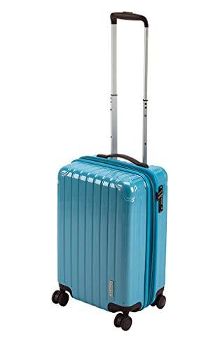 キャプテンスタッグ(CAPTAIN STAG) スーツケース キャリーケース キャリーバッグ 超軽量 TSAロック ダブルホイール 360度回転 静音 ダブルファスナータイプ 機内持込 Sサイズ ファインブルー パルティール UV-72