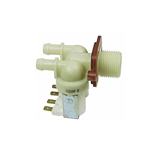 Universal Magnetventil 2-fach 180° Waschmaschine Spülmaschine 11,5 mm