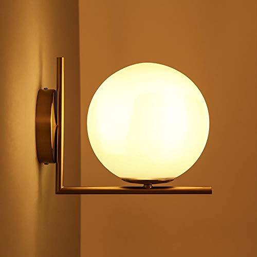 Gototo Wandlamp van ijzer en glas, globe vorm, plafondlamp, industriële decoratie voor woonkamer, keuken, hal, slaapkamer, café bar
