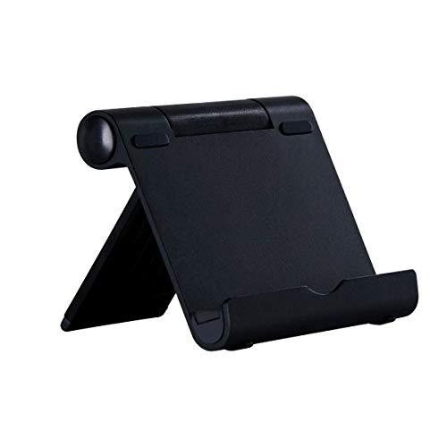 JUNWER Soporte de tableta para Lector de libros electrónicos, Ipad, tableta, teléfono inteligente, iPhone, Samsung Galaxy/Tab, Google Nexus, HTC, LG, Nokia Lumia, OnePlus,Huawei - Black