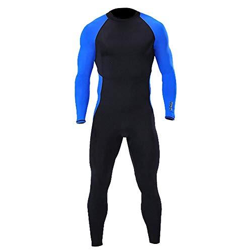 Neoprenanzug Einteiliger Unisex-Tauchanzug Lycra-Langarm-Schnorchelanzug mit vollem UV-Schutz Surf-Badeanzug, schnell trocknende Quallenkleidung mit rückseitigem Reißverschluss(M)
