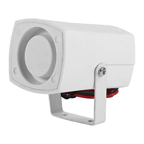 Cuerno de alarma, Sirenas DC 12V con cable Mini Horn Siren 110 dB con sistema de alarma de seguridad para el hogar