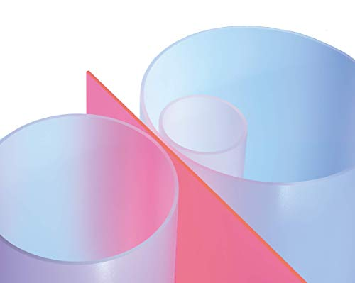 Plexiglas® Satinice DF (Satin Ice) XT Rohr satiniert ø 50/44 mm, L = 1000 mm / 1 Meter