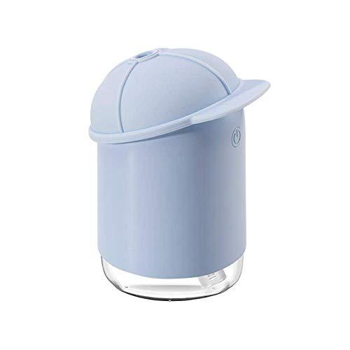 CATLXC - Humidificador de 200 ml con USB, mini humidificador de aire, portátil, ultrasónico, difusor de aroma eléctrico esencial con lámpara de noche para coche en casa K-J292P, K-j292bl