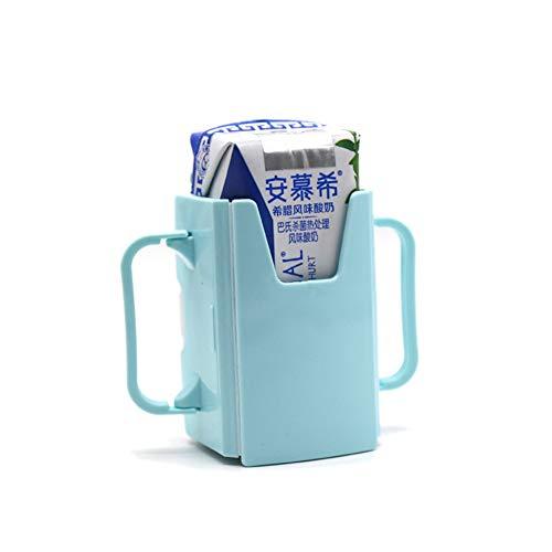 ETbotu kraamgeschenken, baby geschenken - Fles Cup houder verstelbare veiligheid peuter Kid Juice Melk Doos Drinkfles Cup houder groen 1 st