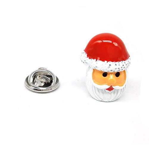 Gemelolandia | Pin de Solapa Papá Noel o Santa Claus 3D | Pines Originales y Baratos Para Regalar | Para las Camisas, la Ropa o para tu Mochila | Detalles Divertidos