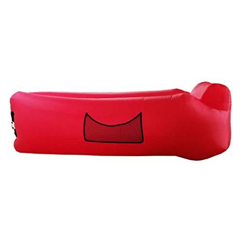 LuoMei Sofá de Aire Plegable Diseño Impermeable Y a Prueba de Fugas de Aire Sofá Ideal para el Patio Trasero Lakeside Beach Travel Camping Picnic Y Festival de Música Sofá Perezoso Bean Bag Envío Gra