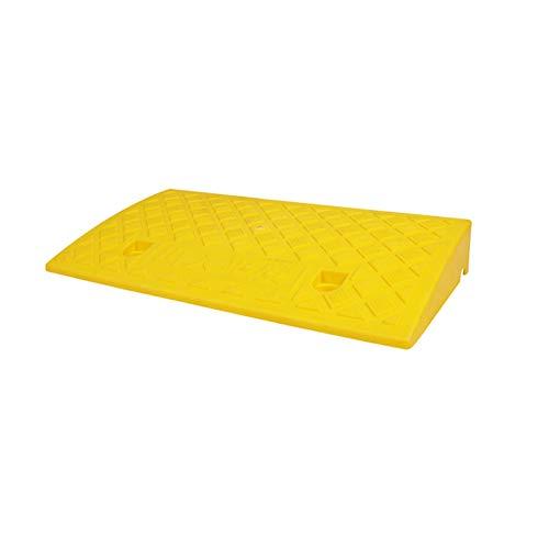 XUZgag Fahrzeug Rampen, Anti-Rutsch-Curb Ramps Kunststoff Rampen mit Eigenantrieb Rollstühle Rampen - Straßen Lösungen Heavy Duty Car Rampen Sicher bergauf Pad (Color : Yellow, Size : 50 * 27 * 7CM)