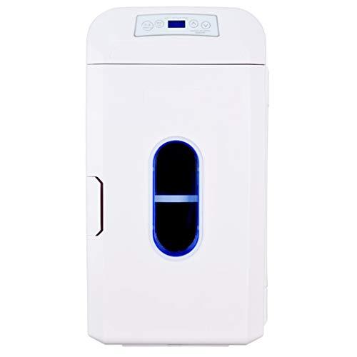 Mini refrigerador Refrigerador eléctrico Horizontal y Vertical de Doble Uso para automóviles y Casas con Barras de Tiro y poleas, 35L, 12V / 24V y 220V (Blanco)