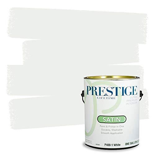 Prestige Interior Paint and Primer In One, 1-Gallon, Satin, White