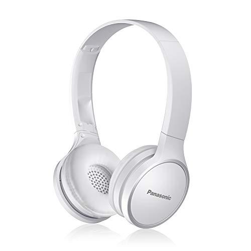 PANASONIC Bluetooth Wireless Headphones with Microphone and Call / Volume Controller - RP-HF400B-W - On-Ear Headphones (White)