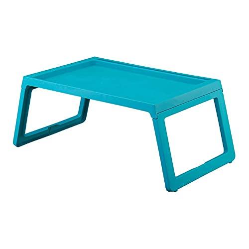 Mesa Mesa Auxiliar de Madera móvil portátil Configuración de Estante de Almacenamiento Doble Rueda Universal para Dormitorio/Estudio/Sala de Estar/Cocina (40x59x58CM) (Color: Azul)