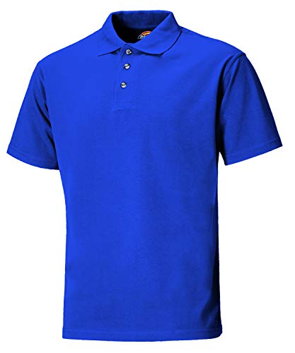 Dickies SH21220 van S Size Small Polo-Shirt - Bordeaux Rood Tuniek M Royal Blauw