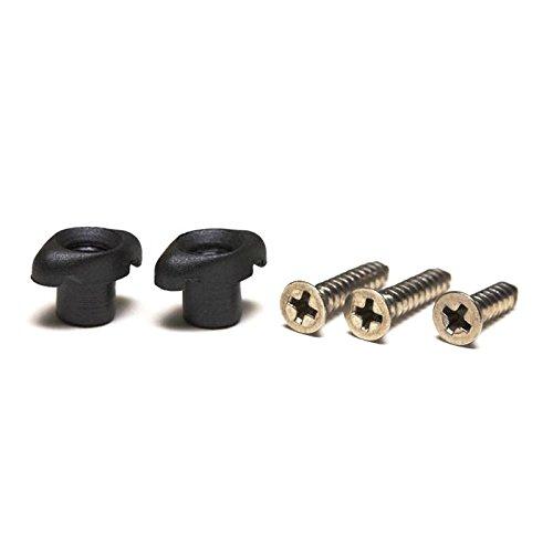 Graph Tech - Fijadores para cuerdas Tusq de guitarra (lisos, con dos tornillos largos cromados), color negro