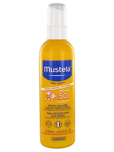 MUSTELA SPRAY SOLAR ALTA PROTECCION 50 + 200 ML NUEVA FORMULA