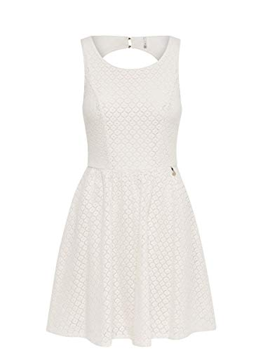 ONLY Damen Kleid ohne Ärmel Spitzen- 42Whisper White