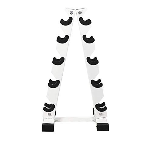 WANLIAN Dumbbell Rack, Solid Steel Dumbbell Storage Stand Holder, A-Frame Weight Dumbbell Storage Racks, Free Weights Dumbbells Set for Home Gym Exercise (5 Tier)