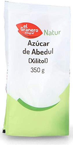 XILITOL - AZUCAR DE ABEDUL. Caja de 4 paquetes de 350g (1,4 Kg)
