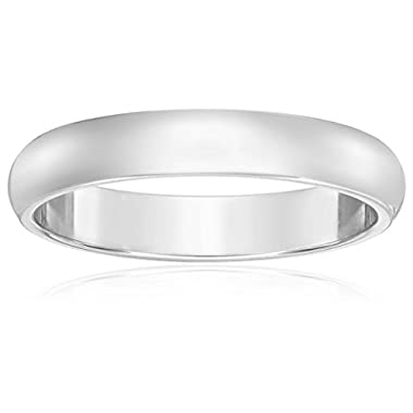 Classic Fit 10K White Gold Band, 3mm, Size 5.5
