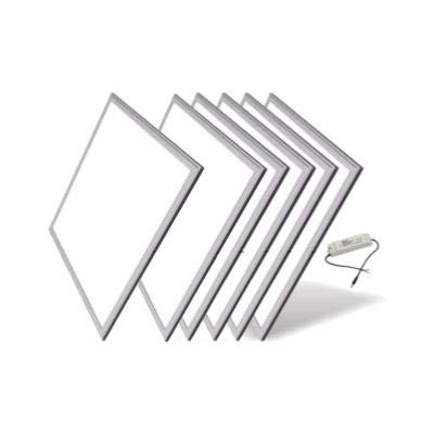 Panneau LED 60x60 Slim 48W ALUMINIUM (Pack de 6) - Blanc Neutre 4000K - 5500K - SILAMP