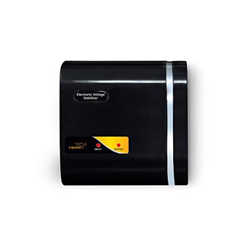 V-Guard Crystal Nano Voltage Stabilizer (Black)