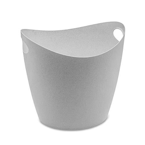 Koziol Zuber Bottichelli XL, Bottich, Korb, Organizer, Aufbewahrung, Thermoplastischer Kunststoff, Organic Grey, 28 L, 5736670