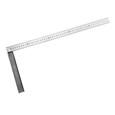 uxcell L Square 500mm Stainless Steel 90 Degree Double Sided Angle Ruler Right Measuring Layout Tool for woodworker Engineer