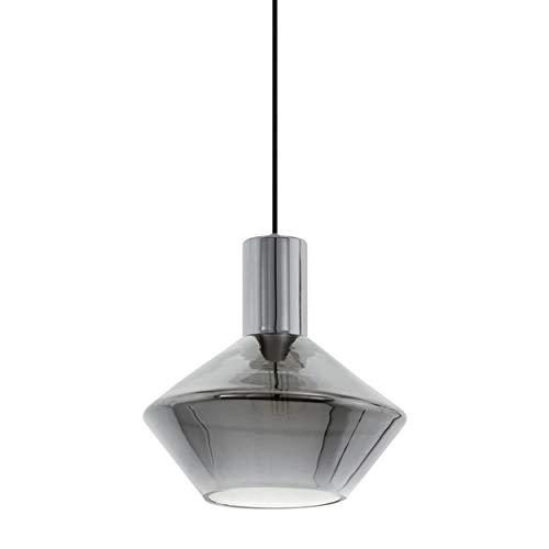 EGLO Lámpara colgante Ponzano, 1 lámpara colgante moderna, lámpara de techo de...