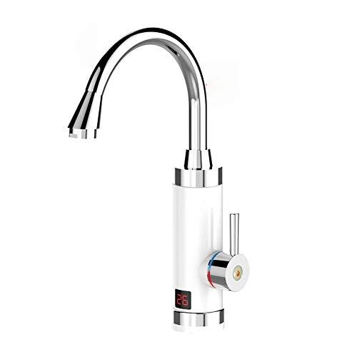 Bdesign Instantánea Instantánea de calor Calentador eléctrico de 220V Tap, Suministro de agua caliente y agua fría, agua caliente inoxidable golpecito de la cocina con el indicador digital del LED for