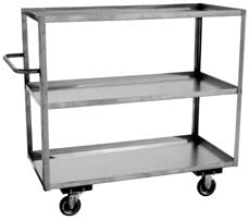 New product! New type Three Shelf Tall Stainless Steel Albuquerque Mall SS-TRUCK-9-3618-5S Carts